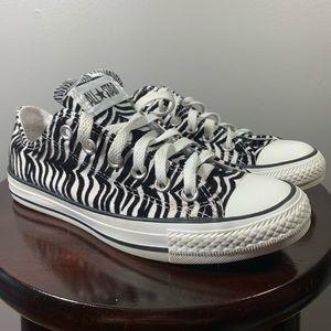 Converse Zebra print shoes women's size 7